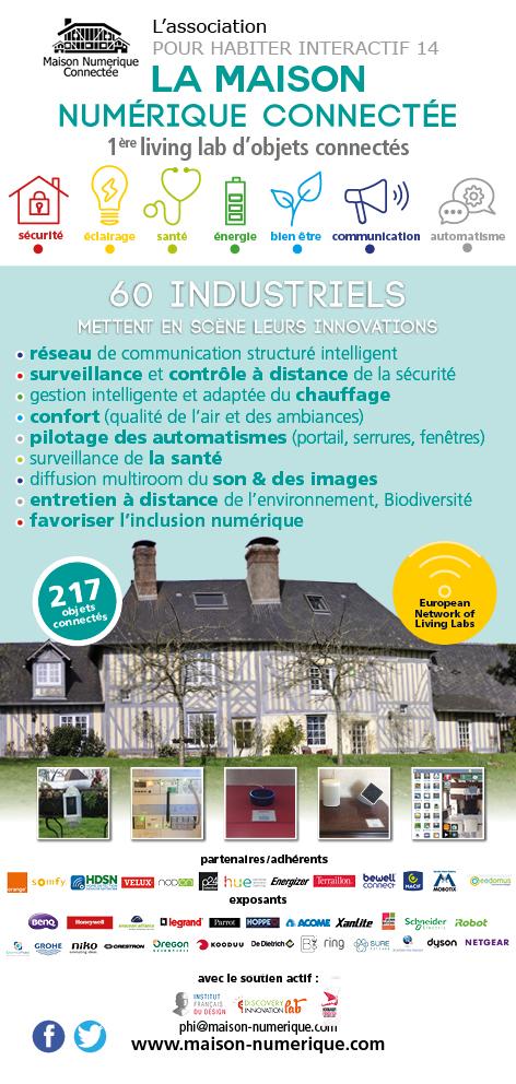 Flyer Maison Numérique, 1er living lab 217 objets connectés